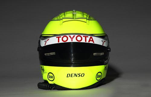 图文-F1丰田车队05赛季车手头盔小舒马赫头盔正面