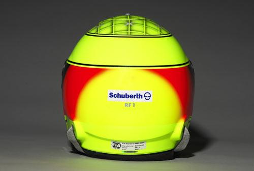 图文-F1丰田车队05赛季车手头盔小舒马赫头盔背面