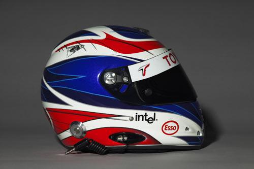 图文-F1丰田车队05赛季车手头盔潘尼斯头盔侧面