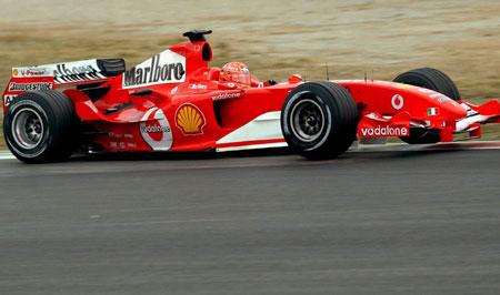 """图文-法拉利车队西班牙试车舒马赫的红色""""野兽"""""""