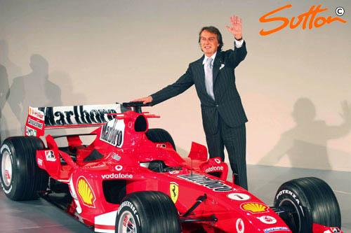 图文-F1法拉利车队发布新车蒙特泽莫罗挥手致意