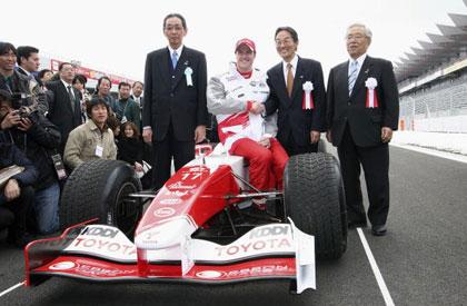 图文-小舒马赫驾车巡游富士赛道丰田车队从这起步
