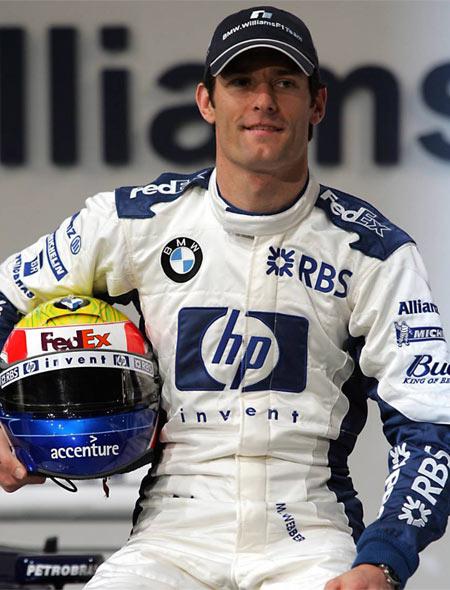图文-05赛季F1正式车手一览威廉姆斯车队韦伯