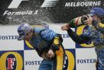 图文-F1澳大利亚站颁奖仪式阿隆索不依不饶