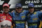 图文-F1澳大利亚站颁奖仪式领奖台三人组