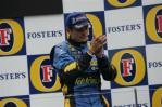 图文-F1澳大利亚站颁奖仪式为自己鼓掌