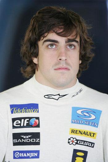 图文-F1澳洲站第二次排位赛阿隆索面无表情