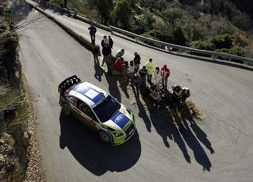 图文-WRC蒙特卡洛站第三日格隆霍姆攻杀弯道