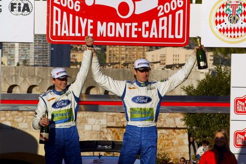 图文-WRC蒙特卡洛站格隆霍姆夺冠一展胜者英姿