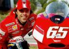 图文-MotoGP杜卡迪车队发布会卡皮-罗西动作滑稽