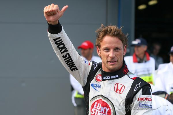 图文-F1澳洲站巴顿夺得杆位巴顿:今天我是老大!