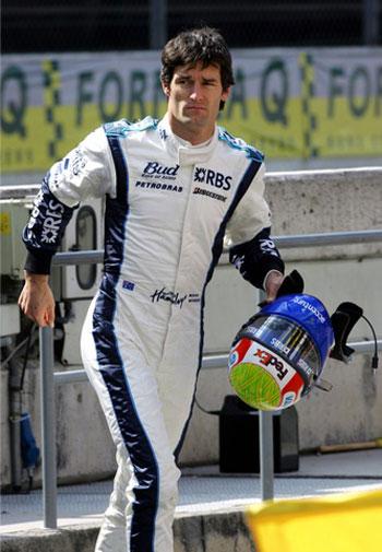 图文-F1巴塞罗那试车次日威廉姆斯车队韦伯
