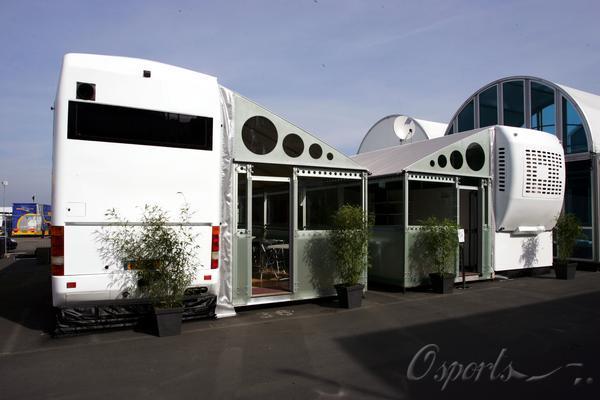 图文-独家特写F1车队超级车房超级亚久里的全新营地