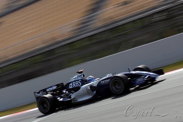 图文-F1巴塞罗那试车第三日威廉姆斯车手罗斯博格
