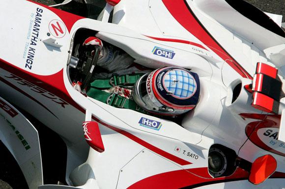 图文-F1法国站周5练习精彩图亚久里车队佐藤琢磨