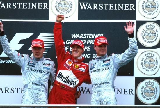 图文-全程记录舒马赫职业生涯分站冠军2000年欧洲站