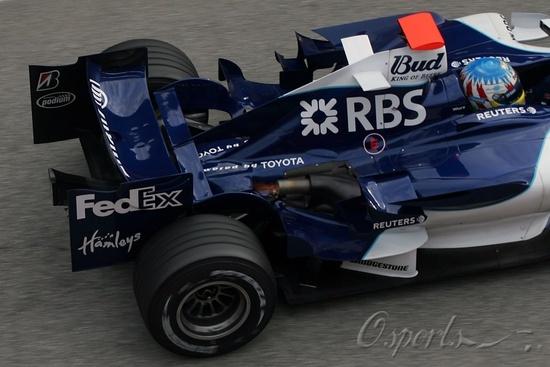 图文-F1巴塞罗那试车(11.28)威廉姆斯换了丰田芯