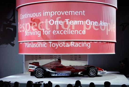 图文-F1丰田车队发布新车TF107揭开神秘的面纱