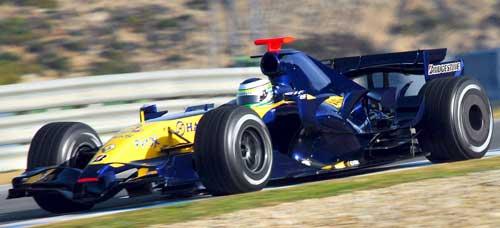 图文-F1车手19日训练图雷诺新车27试训感觉不错