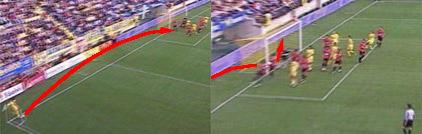 西甲第8轮最佳进球:里克尔梅角球直接破门(图)