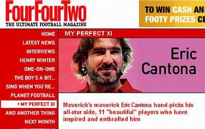 坎通纳点评足坛最佳11人:马拉多纳比贝利出色