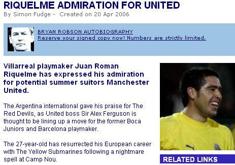 里克尔梅对曼联表达兴趣弗格森考虑引进阿根廷核心