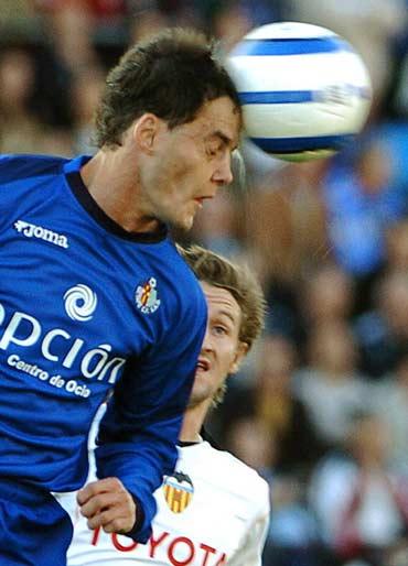 图文-[西甲]赫塔菲1-0巴伦西亚米斯塔害怕空中球