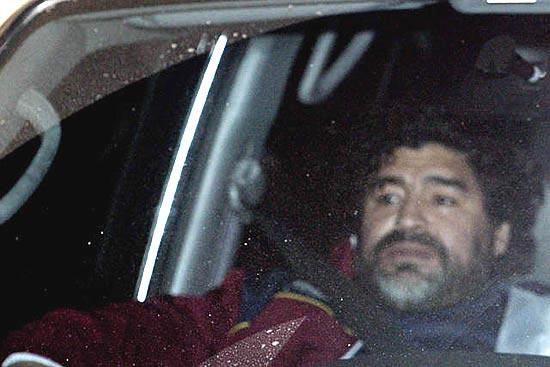 图文-马拉多纳回到家乡球王蓄起大胡子酷似卡斯特罗