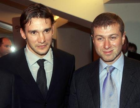 舍甫琴科喜获东欧最佳球员阿布也喜欢舍瓦