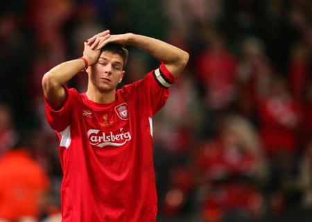 图文-[联赛杯]利物浦2-3切尔西杰拉德痛苦非常