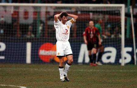 图文-[冠军杯]AC米兰VS曼联错失良机基恩惆怅