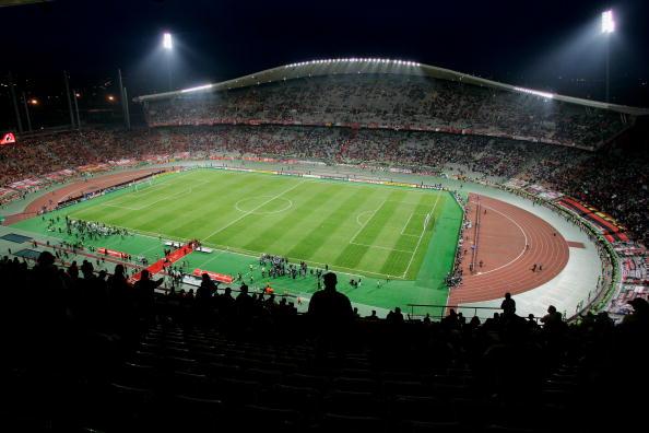 图文-[冠军杯]AC米兰vs利物浦决赛球场准备就绪