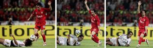 图文-[冠军杯]AC米兰vs利物浦疑似手球三部曲