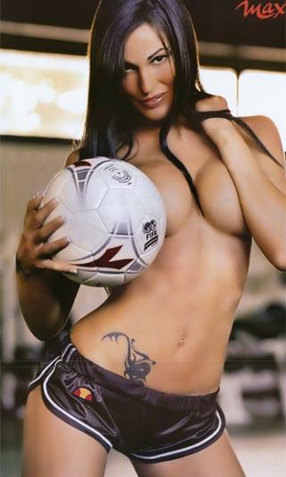 图文-0506意甲小姐的足球生活莉多菲渴望罗马夺冠