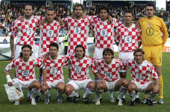 图文-2006德国世界杯32强一览克罗地亚国家队全家福