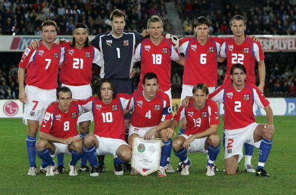 图文-2006德国世界杯32强一览捷克国家队全家福
