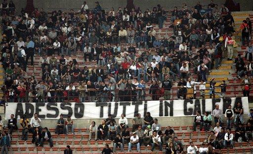 图文-[意大利杯]国际米兰3-1罗马抗议意甲丑闻
