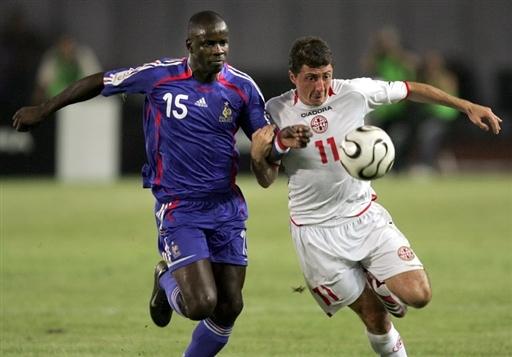 图文-[预选赛]格鲁吉亚0-3法国图拉姆对抗阿维拉泽