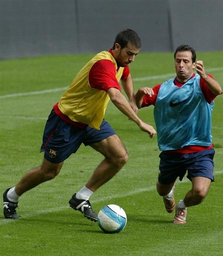 图文-巴塞罗那备战西甲联赛久利训练也动真格了