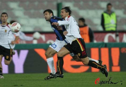 """图文-[意大利杯]梅西纳0-1国米""""岩石""""般的防守"""