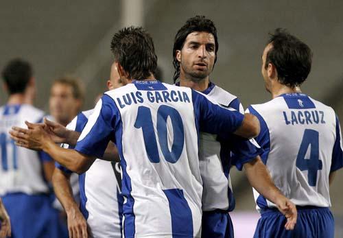 图文-[联盟杯]西班牙人6-2维尔根巴塞罗那人享受胜利