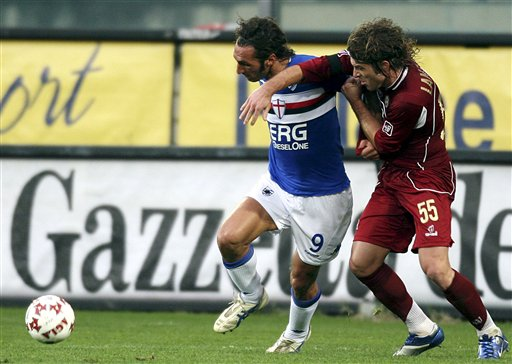图文-[意甲]雷吉纳vs桑普多利亚巴扎尼被防死