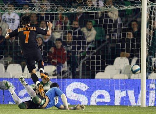 图文-[西甲]贝蒂斯2-1瓦伦西亚比利亚破门瞬间
