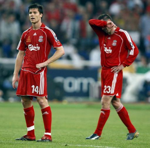 图文-红军利物浦失意冠军杯阿隆索难以走出失望情绪