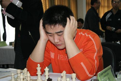 图文-07国象甲级联赛首轮济南开战王�h表情痛苦