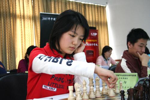 图文-2007国象联赛第三轮清纯女孩沈阳首次登场