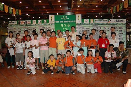 2005年广东省青少年高尔夫球公开赛廖天乐夺冠