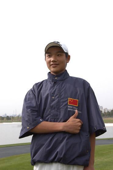 快乐少年快乐高尔夫访中国青少年国家队叶剑锋