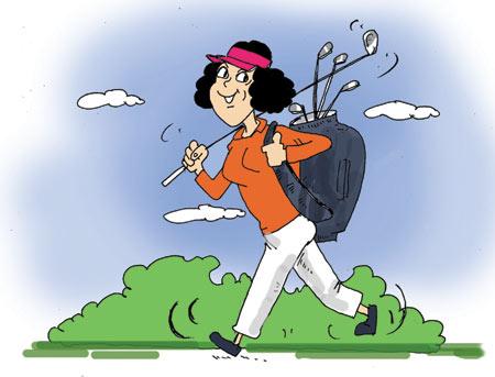 潘蔚:高尔夫面条想健身