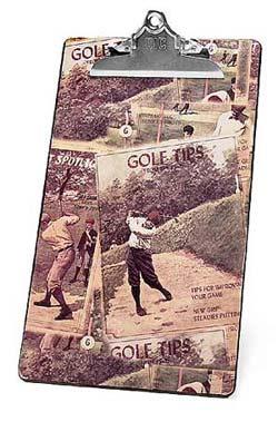 欣赏Vintage怀旧高尔夫画报感受历史之物品篇